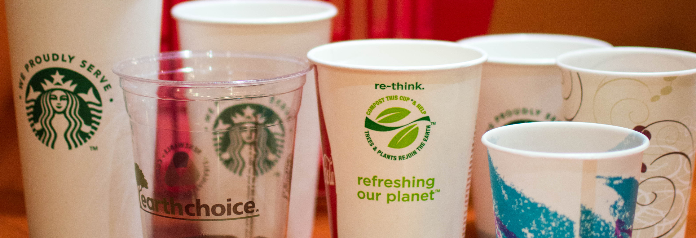 paper and plastic drink cups